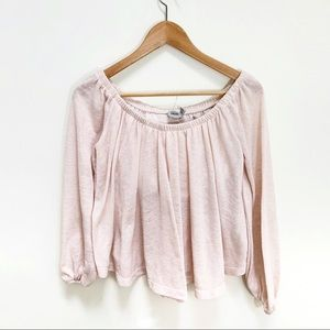 ASOS pink off the shoulder cropped top size 4